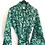 Thumbnail: Robe  / Kimono  - Green Batik Lounge Robe + matching bag