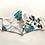 Thumbnail: Robe /  Kimono  - Blue Roses Lounge Robe + matching bag + mask
