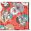 Thumbnail: Bandana -  Tropical Orange Block Printed Cotton / Headband