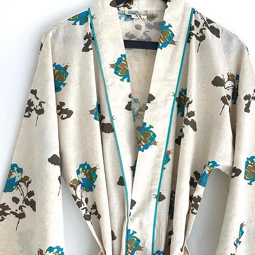 Robe / Kimono - Blue Vintage Roses Lounge / Everyday Comfort