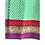 Thumbnail: Wrap Skirt - Green block print with border/ wraparound skirt