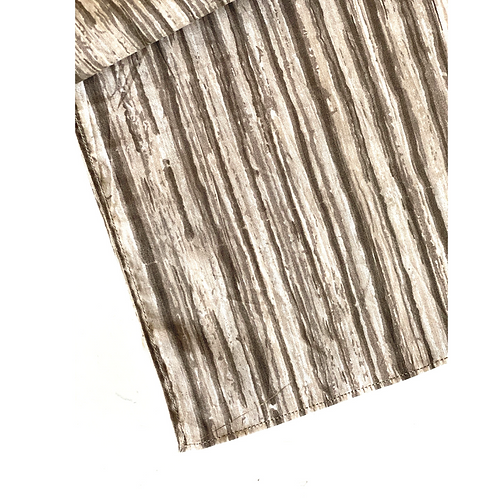 Bandana - Block Print Brown Stripes Cotton/ Table Napkin