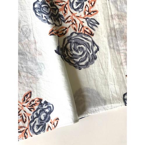 Bandana -    Floral Block Printed Cotton / Headband