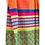 Thumbnail: Sarong / Scarf / Wrap Skirt - Orange zigzag print + border