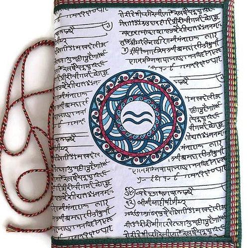 Handmade Paper Journal - Aquarius Astrological Zodiac Sign