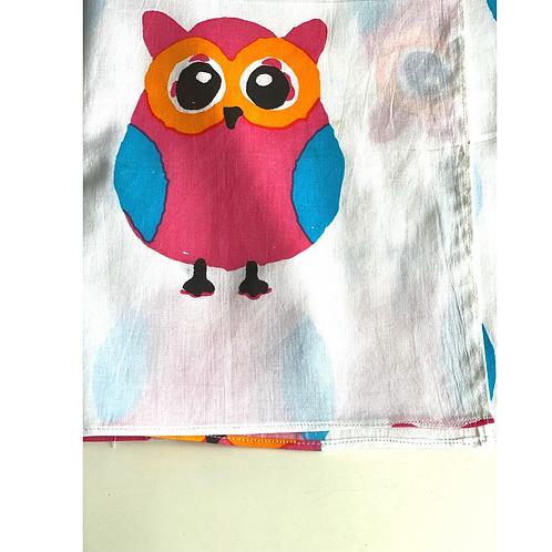 Bandana -  Owl Block Printed Cotton / Headband