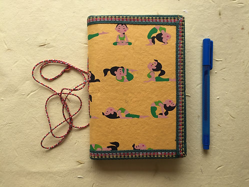 Yoga Journal, Junk Journal, Yoga Poses Journal, Yogasanas journal, Yellow