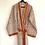 Thumbnail: Robe / Kimono  - Border Block Print / Resort Beach Wear + bag