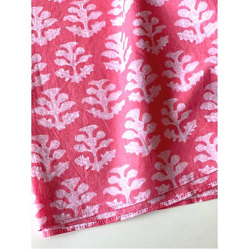 Bandana - Pink White floral   Printed Cotton / Headband