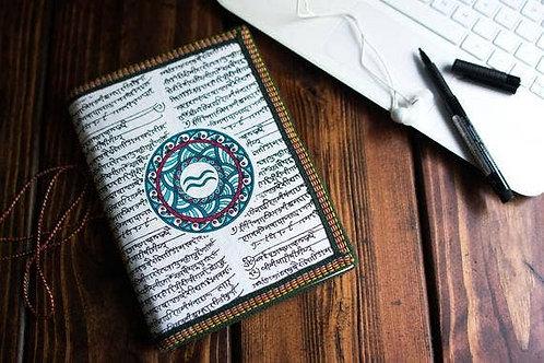 Handmade Paper Journal - Aquarius Astrological Zodiac XL