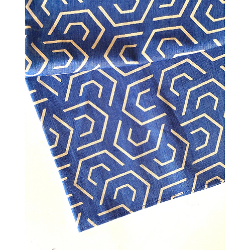 Bandana - Block Print / Face Covering / Head Covering