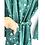 Thumbnail: Robe / Kimono - Green Batik Lounge Robe / Lounge Resort Wear