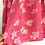 Thumbnail: Stole / Scarf - Pink floral rayon linen blend