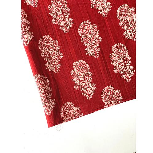 Bandana -   Brown  Floral Block Printed Cotton / Headband
