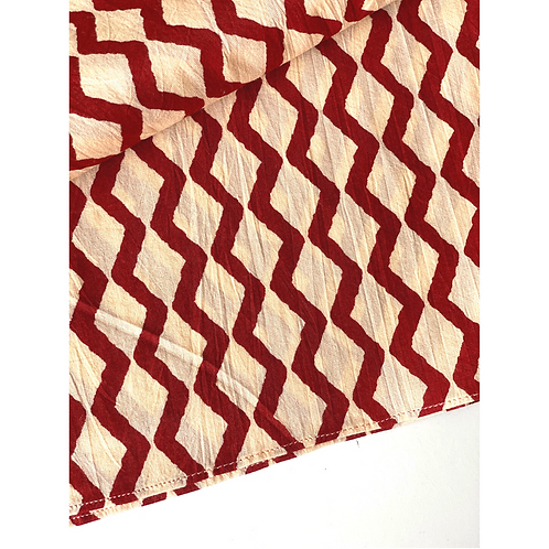 Bandana -   Brown  Jometric  Printed Cotton / Headband