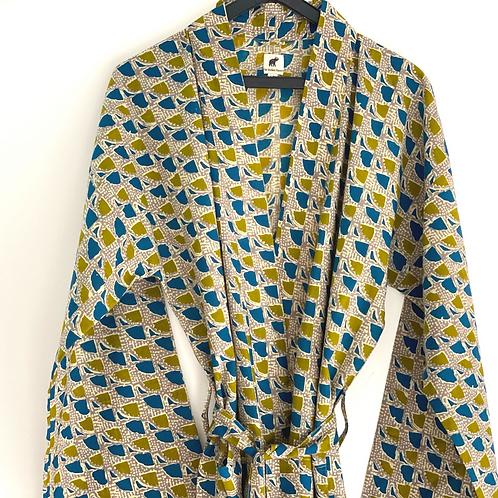 Robe /Kimono - Block Print / Resort / Lounge / Beach Wear