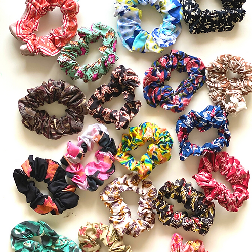 Hair Scrunchies - Set of 6 for Women and Girls - Zero Waste