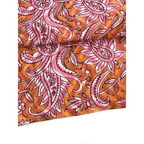 Bandana -  Jaal Paisley Block Printed Cotton / Headband