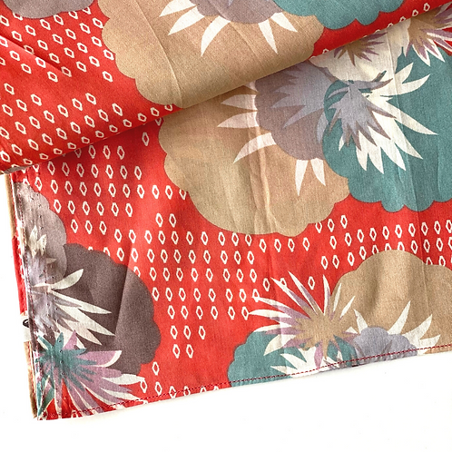 Bandana -  Tropical Orange Block Printed Cotton / Headband