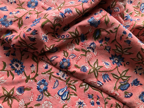 copy of copy of copy of Block Print Fabric, Indian Fabric, Hand stamped fabric,