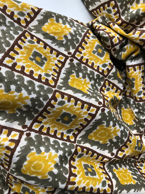 Cotton Slub fabric, Indian Fabric, Fabric by the yard, Indian cotton fabric, Yel