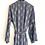 Thumbnail: Robe / kimono - Grey Viscose Lounge wear in buta print viscose