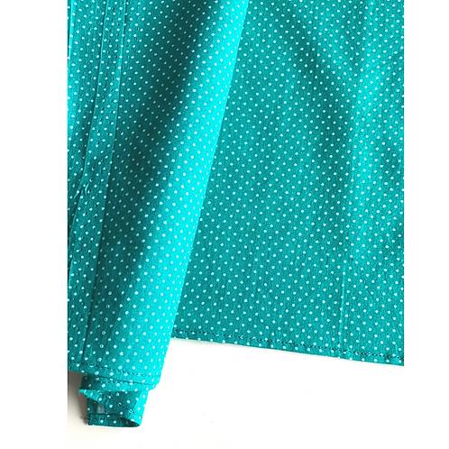 Bandana - Greenand white  Dot Print Cotton/ Napkin