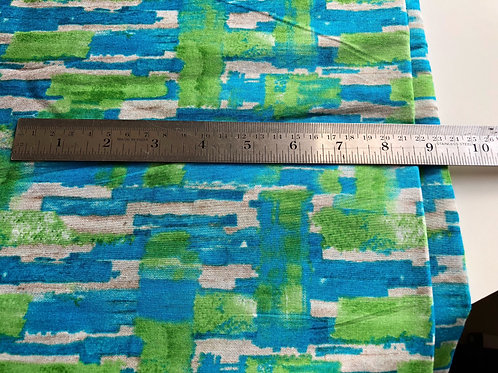 Indian Cotton Fabric by the yard, abstract print fabric, Water color fabric,