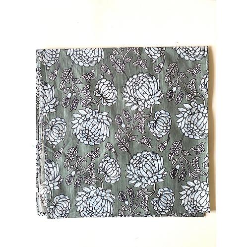 Bandana - Multi Floral Hand Block Printed Cotton / Headband