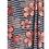 Thumbnail: Sarong / Scarf / Wrap Skirt - Black and peach viscose print
