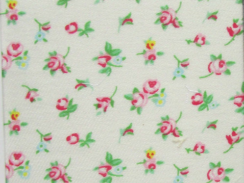 Bamboo Organic Cotton Blend Fabric, Small Floral Print, Twill Weave, Ditsy Print