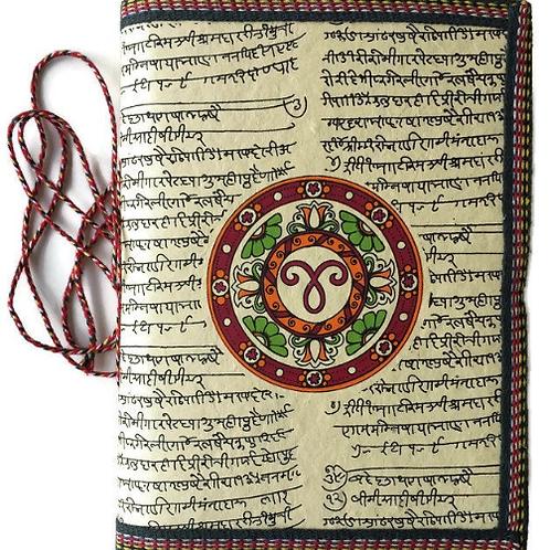 Handmade Paper Journal - Aries Yellow Astrological Zodiac