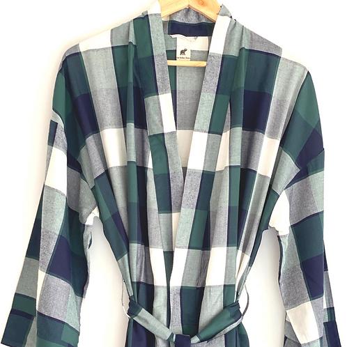 Robe Long - Unisex Men's full length Sleep Lounge Wear + Bag