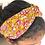 Thumbnail: Twisted Turban Headband - Women + Girl - Yellow Pink Flower