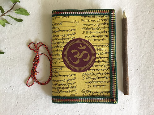 Indian OM, Yellow Journal, Blank Diary, Brother gift, Room mate gift, Boss gift