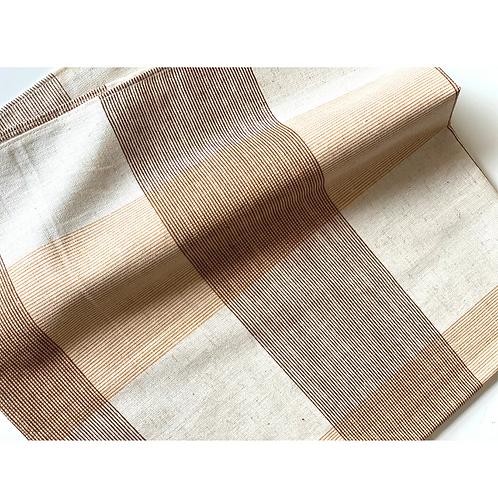 Bandana -  Brown Plaid Printed Cotton / Headband