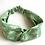 Thumbnail: Twisted Turban Headband - Women + Girls - Green White Peace