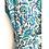 Thumbnail: Robe/ Kimono - Blue Floral Block Print / Resort Beach Wear