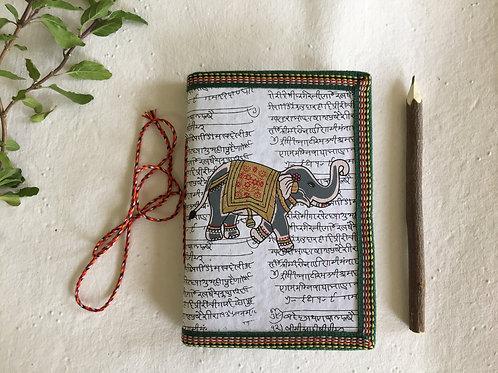 Indian Elephant, Art Journal, Handmade Journal, Blank Sketch Book, Illustration