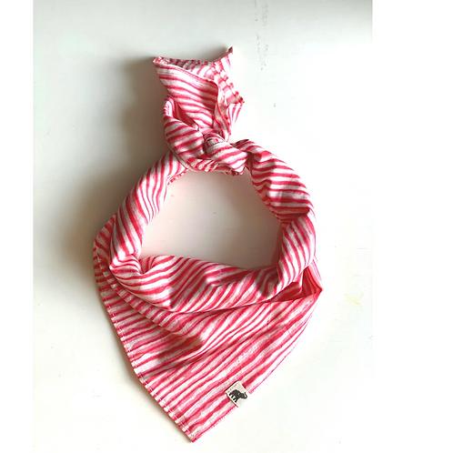 Bandana - Block Print Pink Stripes Cotton/ Table Napkin