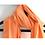 Thumbnail: Stole / Scarf - Peach Linen Cotton Flax with tassel trim