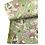 Thumbnail: Bandana - Hand Block Printed Cotton Green and Pink