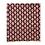 Thumbnail: Bandana - Block Print Red Black Diamond Cotton Table Napkin