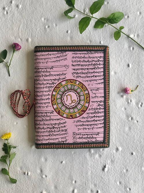Handmade Paper Journal - Capricorn Astrological Zodiac Pink