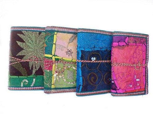 Handmade Paper Sari Patchwork Journals - Set of 4 - XL
