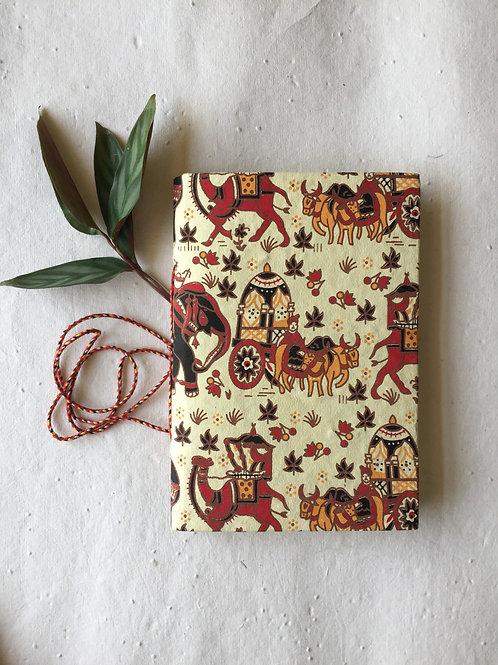 Yellow journal, Indian Art journal, Co worker gift, Friend gift, Neighbor gift