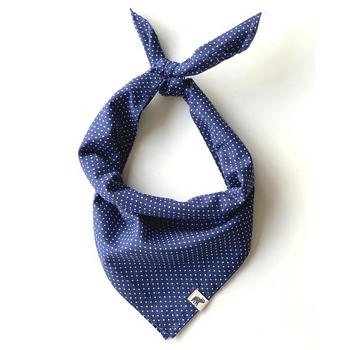 Bandana - blue and white  Dot Print Cotton/ Napkin