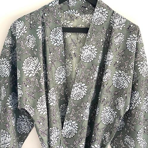 Robe / Kimono- Cotton Daily Robe / Resort Wear / Beach Wear