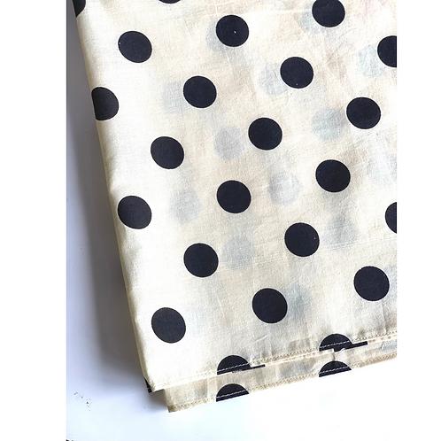 Bandana - Fuchsia and Black  Dot Print Cotton/ Napkin