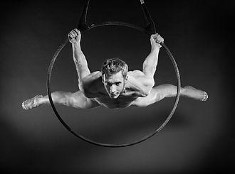 Aerial Hoop circles Daniel Sullivan